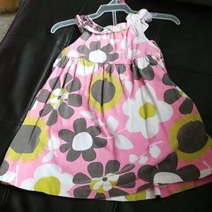 Sunflower dress w/ diaper cover